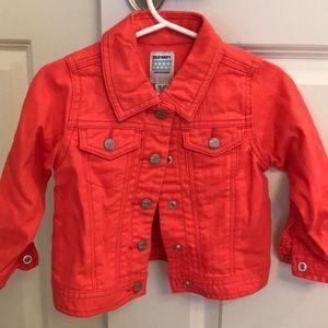 Old navy coral jean jacket